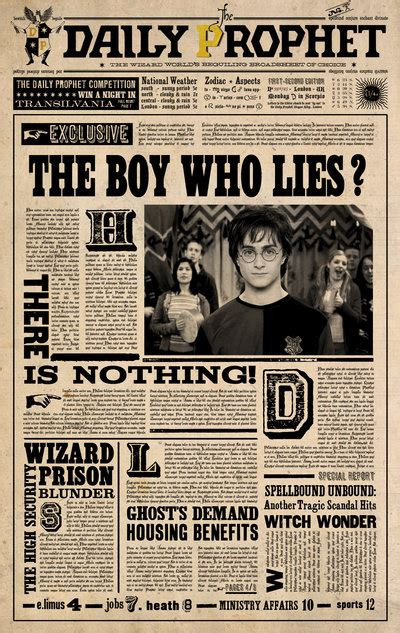 imgs for gt harry potter daily prophet template