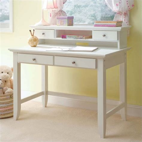 Home Styles Naples Student Hutch Set White Finish White Desk And Hutch