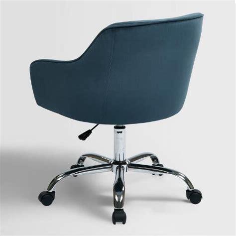 blue velvet office chair blue velvet jozy home office chair world market