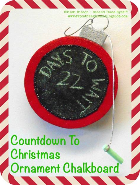 countdown to christmas ornament chalkboard smoothfoam