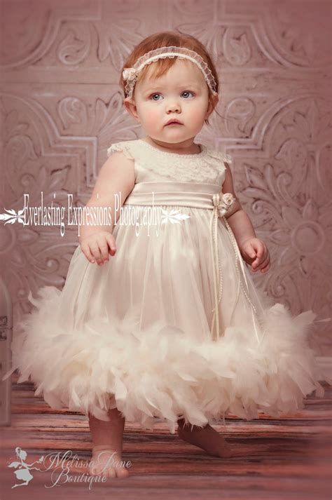 7 Sweet Dresses For Your Baby by Baby Feather Dress