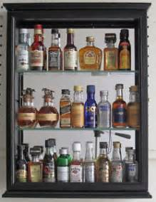 Shadow Box Bar Top by Solid Wood Mini Liquor Bottle Display Cabinet Shadow