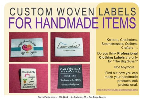 Handmade By Me Labels - custom woven labels for handmade items