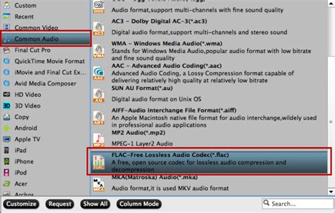 format audio lossless convert pure audio blu ray to lossless flac audio