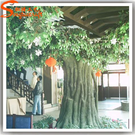 life size cheap artificial big trees landscape plastic plastic tree trunk for indoor props large artificial