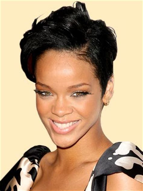 styling short hair off offorehead hair style news rihanna hairstyle for oval face shapes