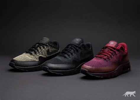 Nike Air Max 1 Ultra Flyknit Black nike air max 1 ultra flyknit black black anthracite asphaltgold