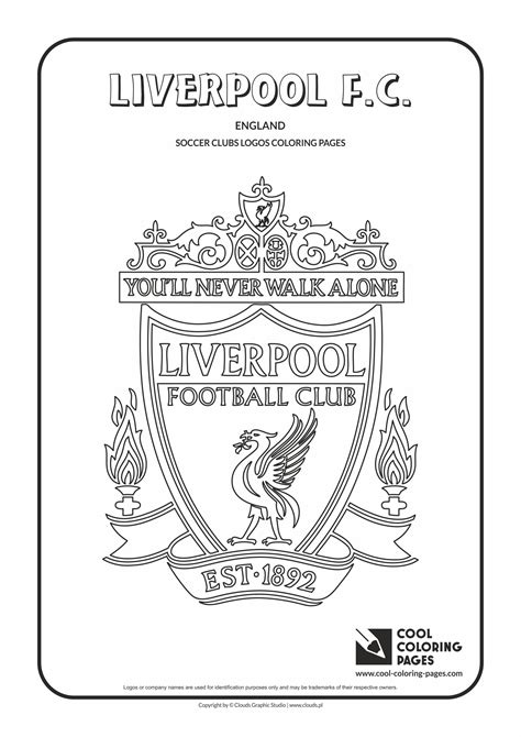 liverpool f c logo coloring coloring page with