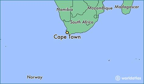 africa map cape of where is cape town south africa where is cape town