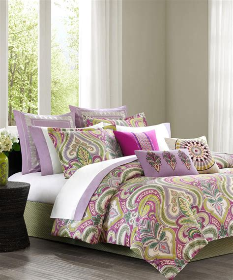 lilac comforter sets fuchsia lilac paisley comforter set zulily