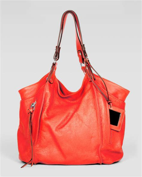 Kooba Tote Bag by Kooba Logan Leather Tote Bag Orange
