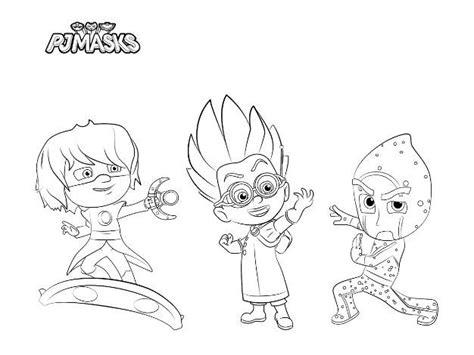 imagenes para pintar heroes en pijama dibujos para colorear pjmasks h 233 roes en pijamas todo