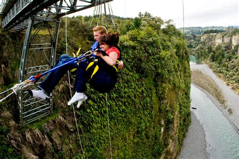 tandem swing mokai gravity canyon bungy jump swing flying fox