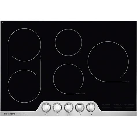 electric smooth top cooktops frigidaire professional 30 inch smoothtop electric cooktop