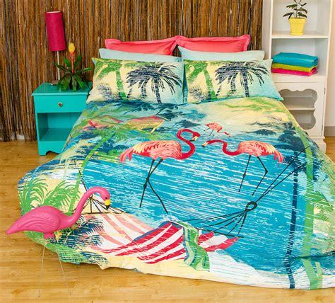 flamingo bedding flamingo quilt doona duvet cover set bedding bird pink