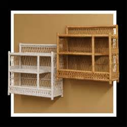 Wicker Bathroom Wall Shelves Wicker 3 Tier Bathroom Wall Shelf In White