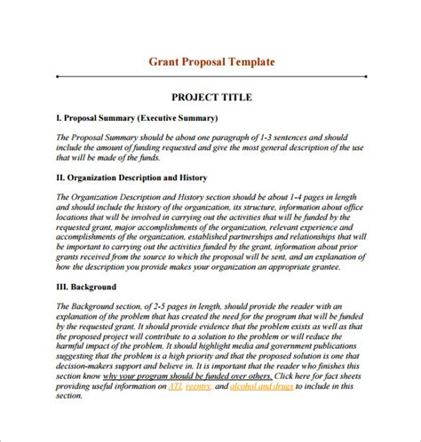 program design grant proposal funding proposal template 13 free word excel pdf