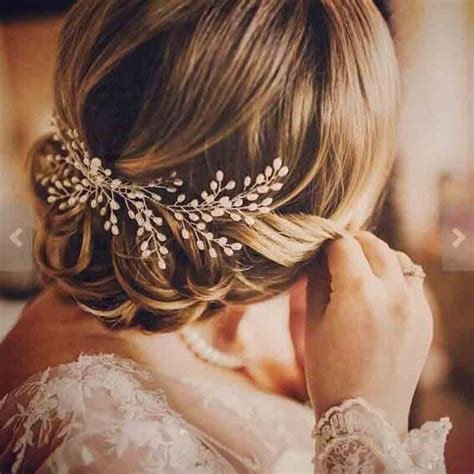 Luxury Vintage Bride Hair Accessories 100% Handmade Pearl