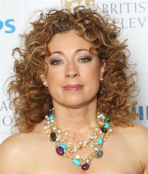 are curls in style alex kingston medium length curly hair style cool curly hair