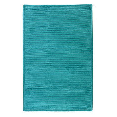 outdoor rug turquoise home decorators collection solid turquoise 2 ft x 3 ft indoor outdoor braided area rug