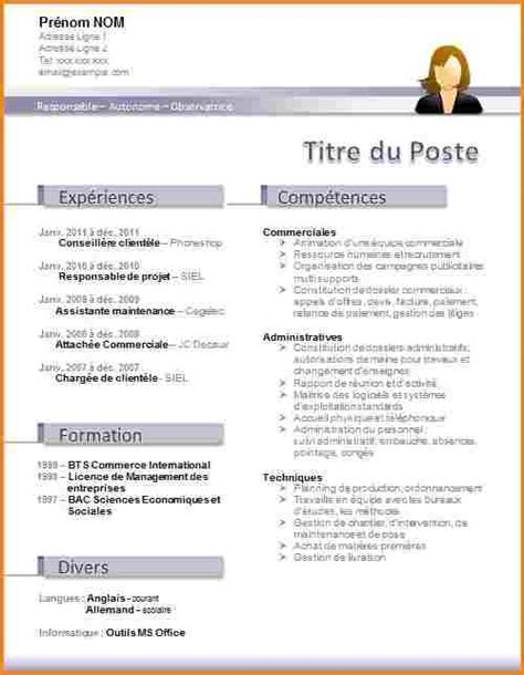 Cv Gratuit by Modele Cv Gratuit A Telecharger Word
