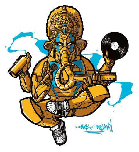 ganesha tattoo hip hip hop ganesh zmogk tad the finest graffiti art