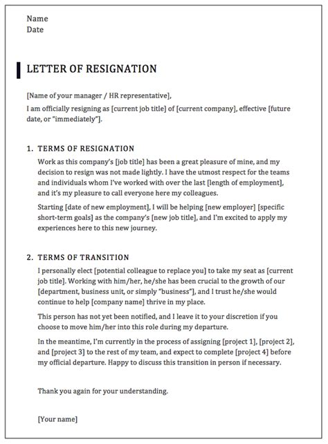 How To Write A Professional Resignation Letter Sles Templates Best Resignation Letter Template