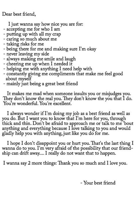 best friend letters letters to friends thoughts qoutes 1089