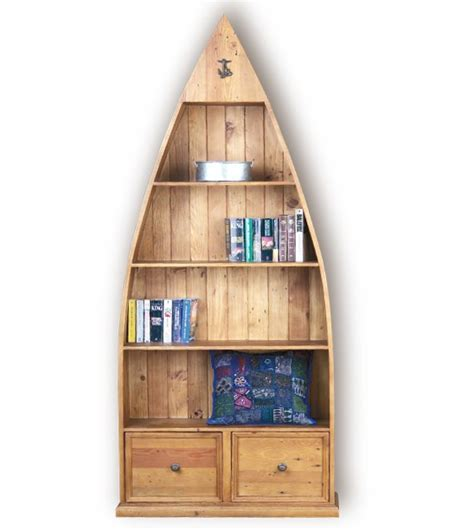 Dinghy Boat Bookcase is made from recycled pine and is