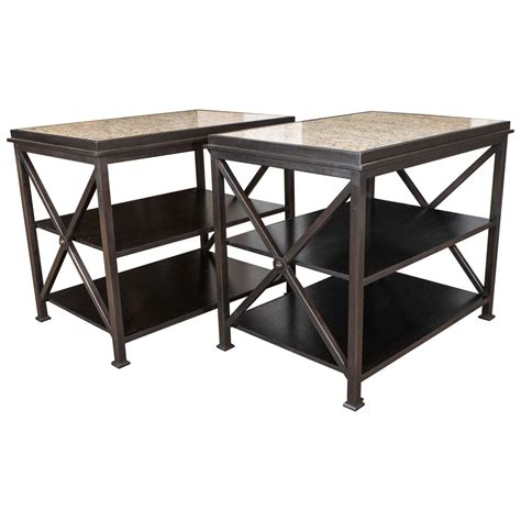 X Frame Side Table Pair Of X Frame Side Tables At 1stdibs
