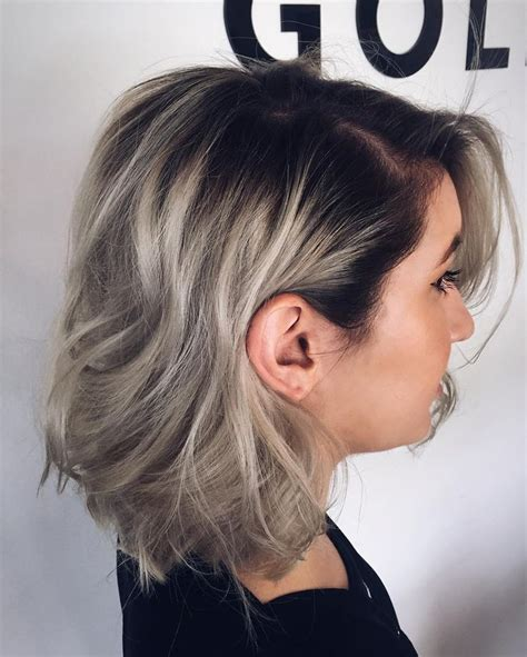 image result for heather ash grey hair colour image result for ash blonde dark roots hair beauty
