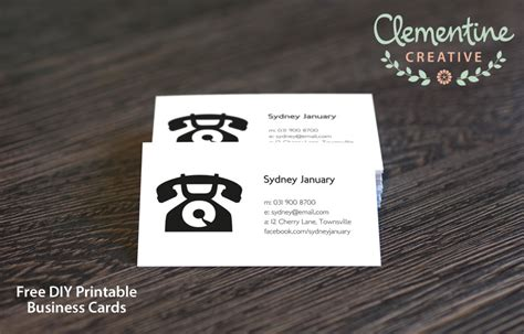 free printable business card templates free diy printable business card template