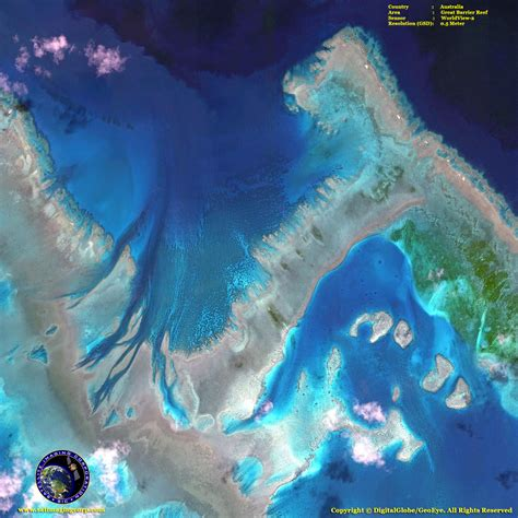 images of great worldview 2 satellite image great barrier reef satellite