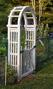 Garden Arbor With Gate White Curved Top Arbour With Gate Garden Gates