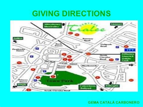 presentaci 243 n giving directions