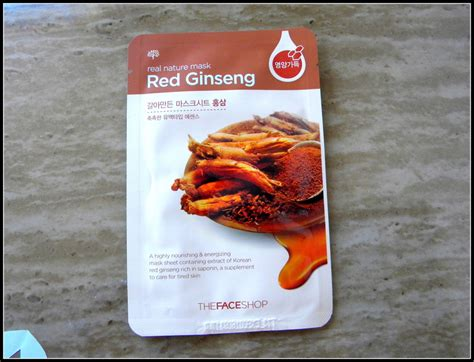 review the shop ginseng real nature mask