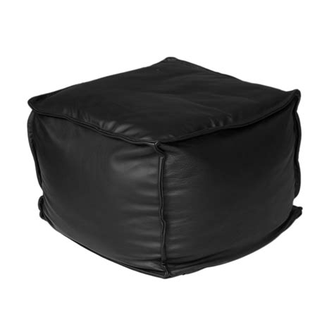 Black Leather Cushions by Apres Black Leather Cushions Found Vintage Rentals