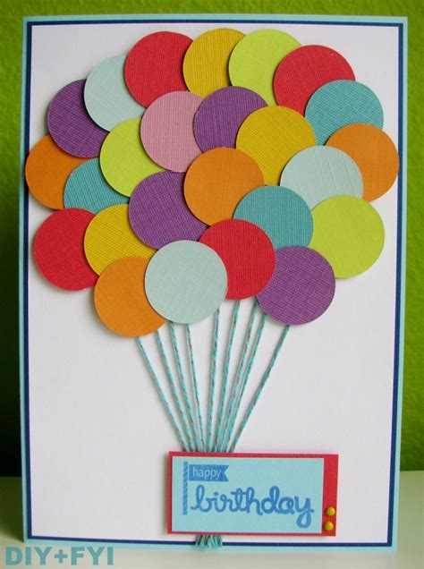 ideas for a birthday card diy fyi creatively created