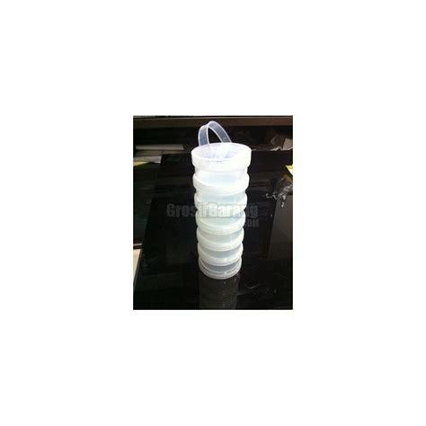 tabung kapsul susun 6 sekat tempat aksesoris peniti