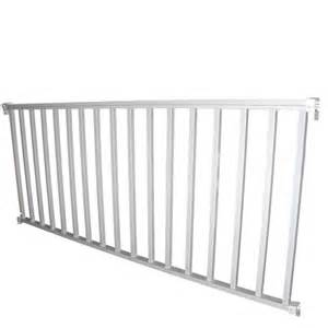 Powder Coated Aluminum Patio Furniture Shop Wolf Handrail Assembled 8 Ft X 3 Ft White Aluminum