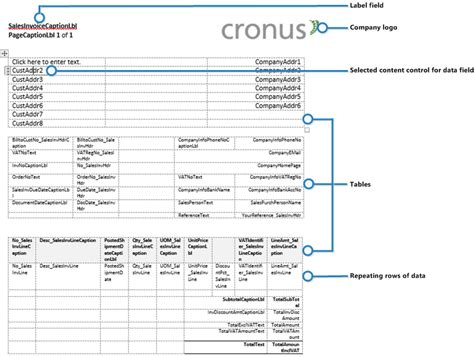 Custom And Built In Layouts For Reports And Documents Business Central Microsoft Docs Server As Built Document Template
