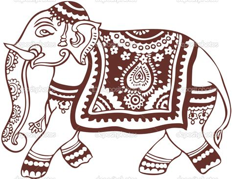 indian design indian elephant design funny animal
