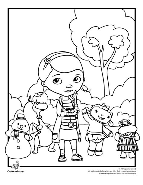coloring pages of doc mcstuffins free coloring pages of doc mcstuffins and lambie