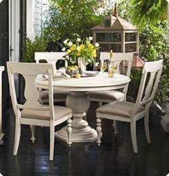 chalk paint round pedestal dining table