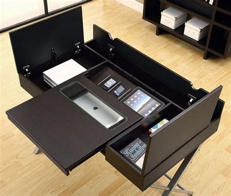 connect it tablet desk pairs sleek design with tons of storage