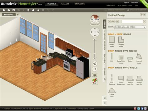 Homestyler Kitchen Design Software with Autodesk Homestyler