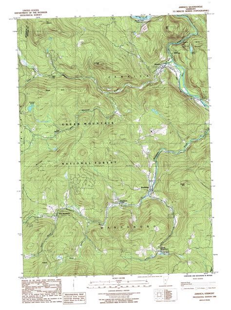usgs topographic maps jamaica topographic map vt usgs topo 43072a7