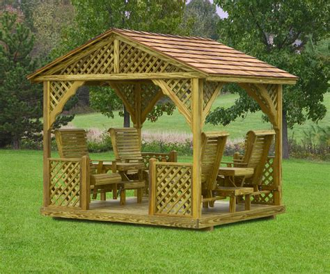 gazebo swing gazebo swings amish mike amish sheds amish barns