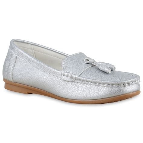 Tassel Loafer Damen by Damen Slipper Tassel Loafer Quasten Schuhe Flats Metallic