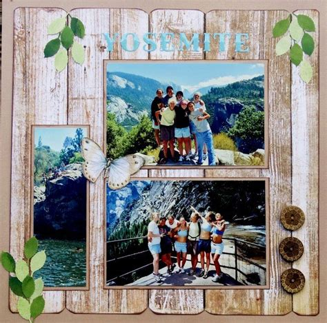 layout yosemite 182 best images about scrapbooking california on